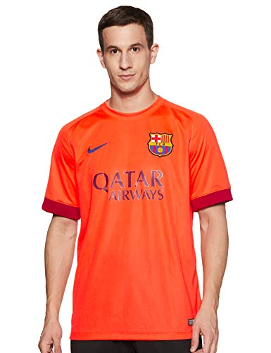 Nike Barcelona Mens Away Soccer Jersey (Bright Crimson) Medium