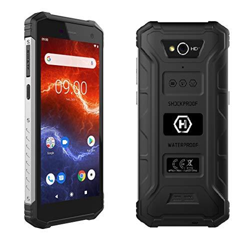 "Hammer Energy 2 5,5"" HD+ IPS, Mega batería de 5000 mAh con Carga rápida, IP68, IK05, LTE, Smartphone a Prueba de Agua, Cuatro nucleos 2Ghz, 3GB + 32GB, NFC, Dual SIM - Plata"