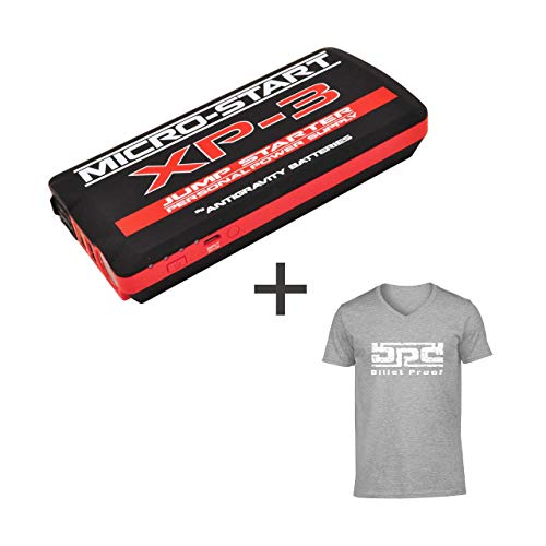Best Price Micro-Start XP-3 Mini Personal Jump Starter/Power Supply Bundle + Free T-Shirt! Newest Mo...