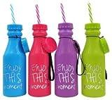 Lote de 12 Botellas Pvc'Enjoy' - Ideales para Detalles para Bodas, Regalos para Fiestas de Cumpleaños y Comuniones Niños y Niñas Originales.