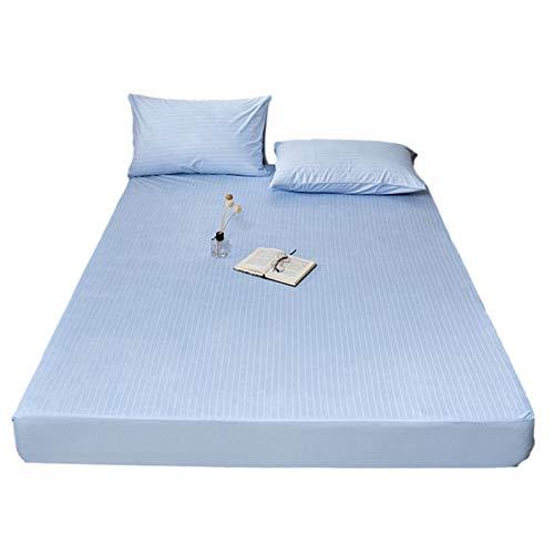 QIANGU Protectores De Colchón para Dormitorios Impermeable Cubre Colchón Comodidad Transpirable Lavable En La Lavadora Tejido De Felpa De Algodón (Color : Blue, Size : 150x200x28cm)