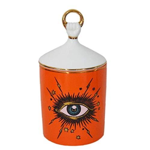Céramique stockage Bidons, bougie Jar bijoux Big Eye Pot de rangement Porte-encens avec couvercle Conteneur bricolage magnétique Spice Tins Décoration