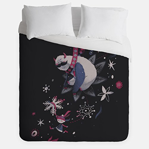 Winter Sloth Duvet Cover/Yeti Monster Bedroom Decor/Made in USA/Great Bedroom Artwork