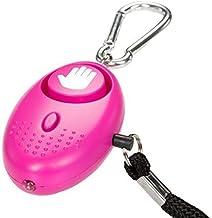 tiiwee zakalarm paniekalarm zelfbescherming 130dB met LED-licht - kleur hot pink - donkerroze 1 Stück hot pink