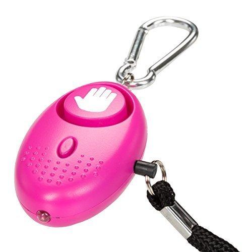 tiiwee Taschenalarm Panikalarm Selbstschutz 130dB mit LED Licht - Farbe Hot Pink - Dunkel rosa