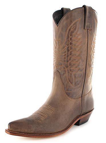 Mayura Boots Unisex Cowby Stiefel MB020 Westernstiefel Lederstiefel Braun 41 EU