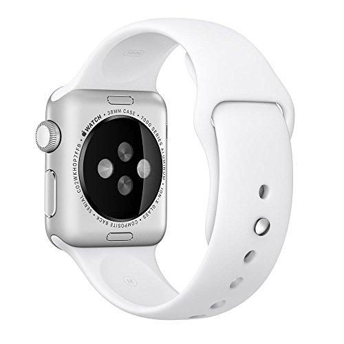 Apple 3D988ZM/A - 3D988ZM/A Correa para Reloj, Watch Strap Fluoroelastómero, Blanco