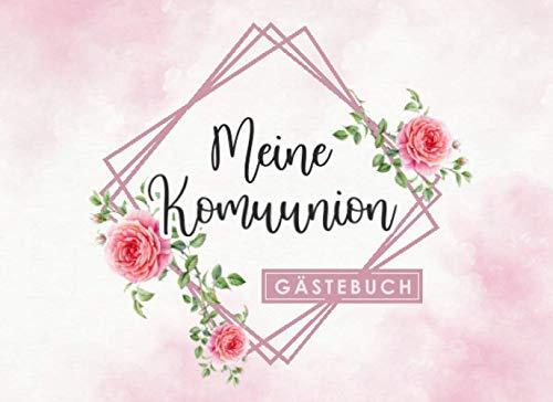 Meine Bar Mitzwa Gästebuch: Individuelles Gästebuch, Eintragbuch für die Kommunion - Mehr als 100...