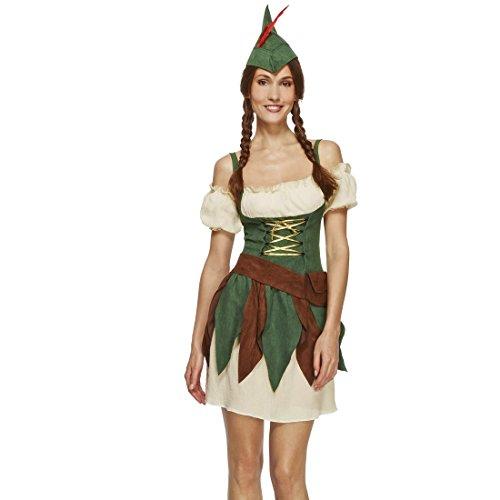 NET TOYS Robin Hood Kostüm Damen Bogenschützin S 36/38 Frauenkostüm Waldläuferin Damenkostüm Elbe Karnevalskostüm Diebin Verkleidung Mittelalter