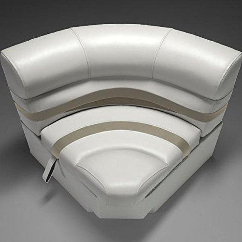 """DeckMate Premium 30"""" Bow Radius Corner Seat (Ivory/Tan/Beige)"""
