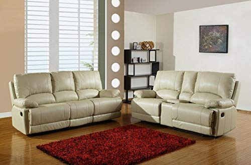 Blackjack Furniture 9345 Brantley Collection Leather Air/Match Upholstered Living Room, Sofa, Con Loveseat, BEIGE