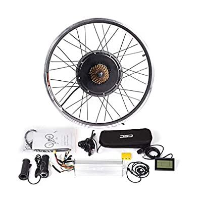 CSCbike MTB E-Bike Conversion Kit 36V 48V Mountain Electric Bicycle Rear Wheel Conversion Parts with KT LCD3 Display Controller PAS Brake Lever(Without Tire and Tube, 48v 1000w, 29in)