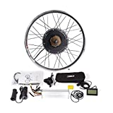 CSCbike MTB E-Bike Conversion Kit 36V 48V Mountain Electric Bicycle Rear Wheel Conversion Parts with KT LCD3 Display Controller PAS Brake Lever(48v1000w, 27.5in)