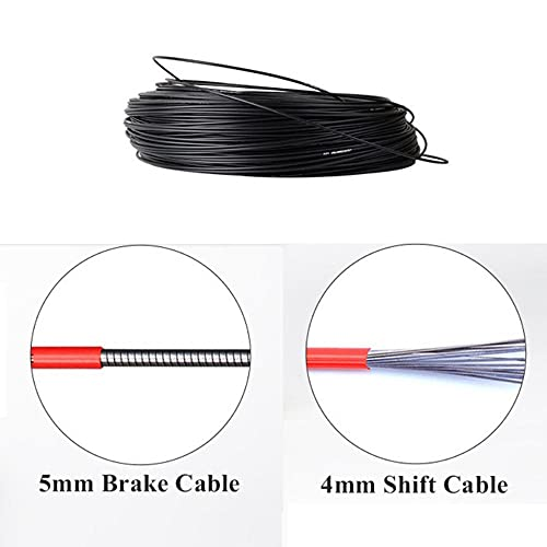 DLRBWAN Bike Brake Cable 1 Roll 4mm 5mm x5m Bike Cable Housing Bike Cable Housing Bicycle Shifter V Brake Cables Outer Casing Protective Cover (Color : 5mm)