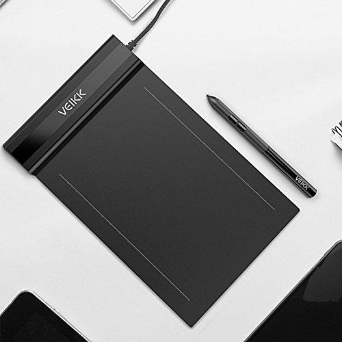 VEIKK S640 - Bloc de dibujo con lápiz digital (6 x 4 pulgadas, 5080 Lpi)