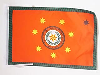 AZ FLAG Cherokee Indians Flag 18'' x 12'' Cords - Native American Tribe Small Flags 30 x 45cm - Banner 18x12 in