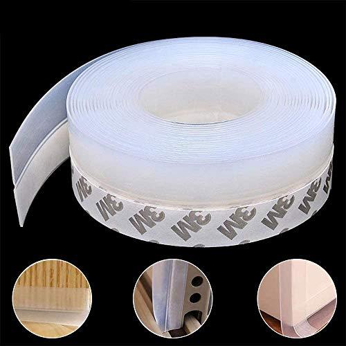 Tira de sellado de silicona de 10 m Tira de la puerta Cinta de sellado de ventana para sellado de la parte inferior de la ventana para puerta de ducha de vidrio Impermeable, insonorizada, 35 mm