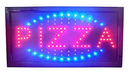 INSEGNA LUMINOSA A LED CON SCRITTA PIZZA 48X25X2 CM
