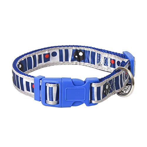 Star Wars R2D2 Small Dog Collar | Blue Small Size Dog Collar | Dog Collar for Small Dogs with D-Ring, Cute Dog Apparel & Accessories for Pets