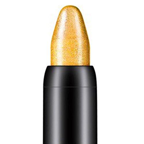Tonsee Femmes Beauté Surligneur Crayon À Paupières Cosmétique Glitter Ombre À Paupières Eyeliner Stylo Outil De Maquillage Portable, 116cm (Or)