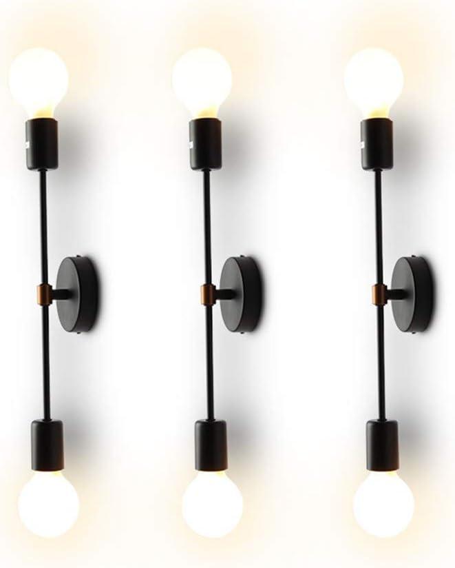 43 opinioni per XIHOME Minimalista Nero 2 Luci LED Lampada da parete su/giù per interni,180 °