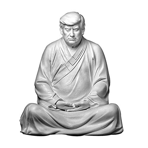 qingyin Trump Harz Dekoration Mediating Zen Trumpf Statue Garten Dekor Figur Tabelle Dekorative Verzierung Lustige Trump Ornament Lebendige Dekoration