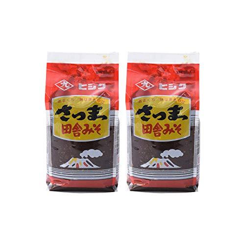 [藤安醸造(ヒシク)] 赤味噌 さつま田舎 1kg×2個 熟成させた赤系みそ
