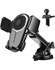 Tsryrlr Cell Phone Holder For Car[Ultra-Stable]Universal Car Phone Mount For Dashboard Windshield Vent,360 ° Rotatable Long Arm Cradle Compatible With All iPhone Android Smartphones &All Cars