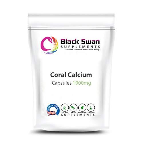 Black Swan Coral Calcium 1000mg Capsule - for Health Bone and Stronger Hair, Nail – Natural Supplement (120 caps)