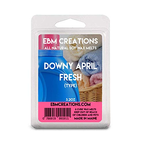 Downy April Fresh (Type) - Scented All Natural Soy Wax Melts - 6 Cube Clamshell 3.2oz Highly Scented!