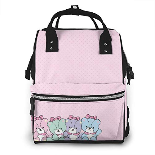 Diaper Bag Backpack - Hello Kitty Tiny Bear Multifunction Waterproof Travel Backpack Maternity Nappy Changing Bags