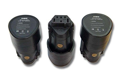 vhbw 3x Akku kompatibel mit AEG BSB 12C,...