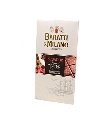 Baratti & Milano - TABLETA DE CHOCOLATE NEGRA GRAN ECUADOR SIN PROCESAR 75{7fef1f8609eb541c91882d686e61d3ff0e2c8a2000b279fc96db4e08f91b3fef} DE CACAO 75GR