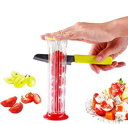 Grape Slicer, Strawberry Slicer, Fruit Salad Making Tools, Fruit Divider, Suitable For All Kinds Of Small Fruits(not include knife)