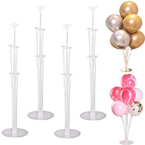 tarumedo 4 Stück Ballon Stick Halter Balloon Stand Kit Luftballons Ständer Halter Ballonhalter Ballonbaum Tischballonständer Ballonzubehör für Weihnachten Party Geburtstag Hochzeits Dekoration