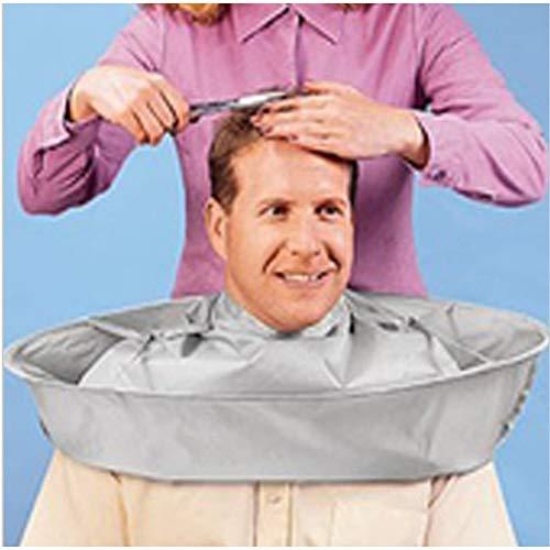 Cape coiffeur Coiffure Imperméable Antistatique Teinture Pour Les Cheveux Cape Coupe De Cheveux Stéréo Argent Gris Cape Salon De Coiffure Ménage Adultes Enfants Tissu,1piece