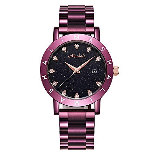 Relojes de Moda Tendencia de Moda para Mujer Atmósfera Europea y Americana Gran Placa Impermeable Personalidad Simple Temperamento w