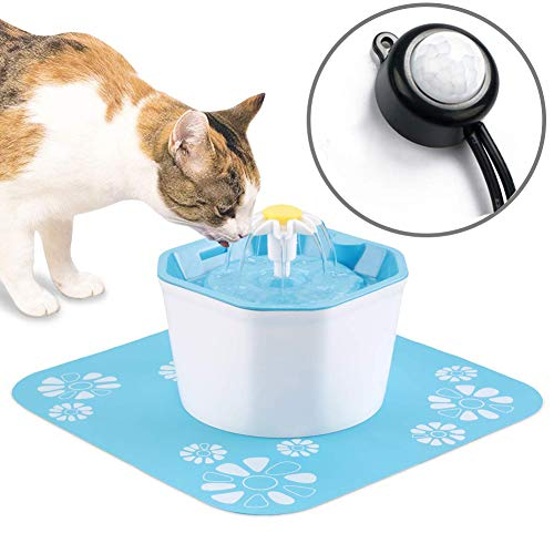 Aomomy Cat Automatic Start Stop Water Fountain Infrared Sensor Drinking Flower Fountain Pet Water Dispenser Super Energy Saving