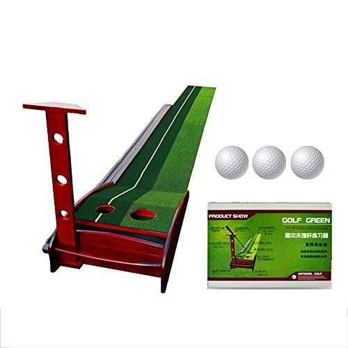Bequem Kunstrasen Golf Putting Trainer Indoor/Outdoor Golf Auto Return Putting Trainer Matte Track Indoor Putting Green 2 Löcher / 2 Größen Gravity Ball Return dauerhaft