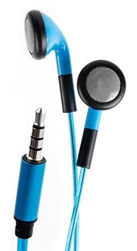 DURAGADGET Auriculares In-Ear con Luz LED Azul para Piano Digital/Teclado Yamaha P-35B / Yamaha P-45B / Yamaha PSR-F51 / Casio CDP-130 / Casio CTK-6200 - ¡Las Luces Se Mueven Al Ritmo De La Música!