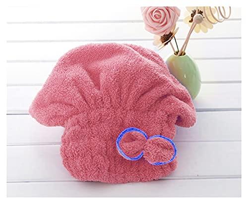 XMYINGWEI Seco Pelo Sombrero Toalla de turba de Toalla de Toalla de Microfibra Rápidamente Secado para el Cabello Toalla Mujeres Niñas Damas Absorbent Ducha Cap Bathroom Products (Color : B)