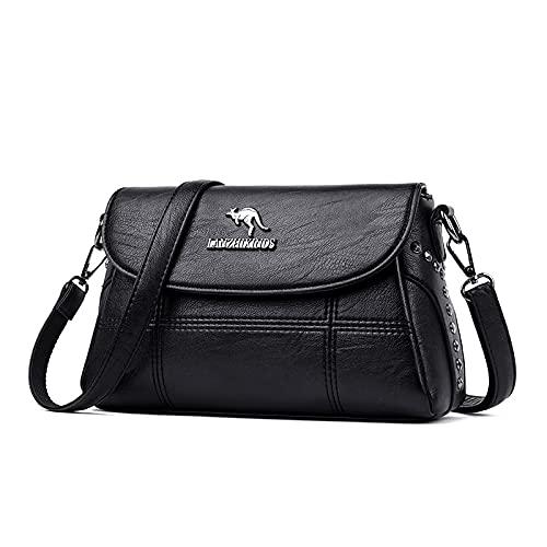 Shoulder Bags Crossbody Bags For Women 2020 Fashion Handbag Designer Female Soft Leather Shoulder Messenger Bags Ladies Tote Bag Sac By BBLL (Color : Black, Size : 27cm x 9cm x 17cm)