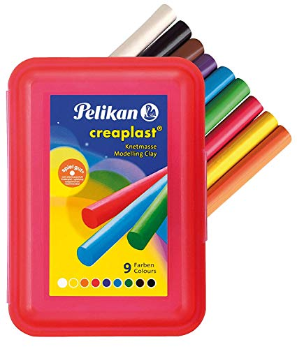 Pelikan Knetmasse Creaplast Kinderknete 300g (Rot, 10 Packungen)