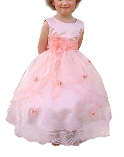 Lito Angels Meisjes Tule Bloemenmeisje Bruidsmeisjes Jurken Feestjurk met Gebouwd Petticoat