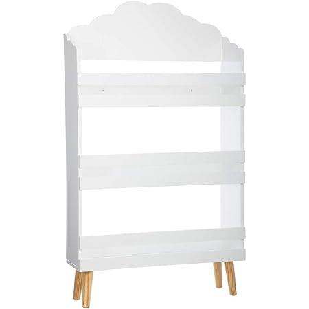 Biblioteca 3 estantes de madera - Motivo Nube - Color BLANCO