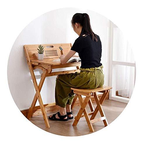 Escritorio Plegable Escritorio Multifuncional Escritorio para Computadora Tamaño Del Estudio Del Estudiante: 30×39.5×44Cm (Silla), B-T, Mesa + silla