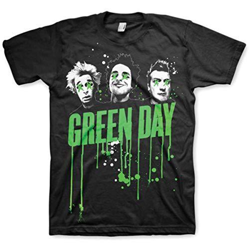 Green Day Men's Drips Short Sleeve T-shirt, Black, Medium