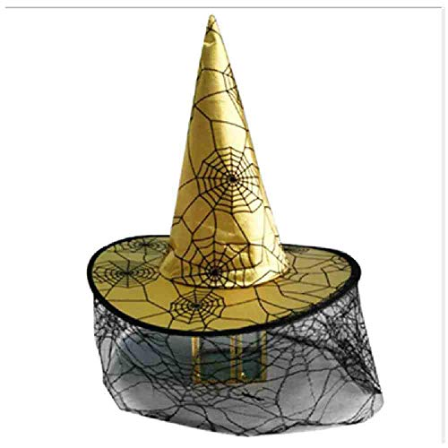 AYLWKS heks hoeden spin ster Masquerade lint tovenaar hoed partij cosplay kostuum accessoires Halloween partij Fancy jurk Decor juni 28