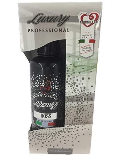 Profumi & Co–Ambientador Spray Luxury Profesional-Ambientador Coche, hogar, Trabajo- Fragancias para ambientes-Ambientador Coche Nuevo-Quita Malos Olores-300 ml Made in Italy (Boss) ✅