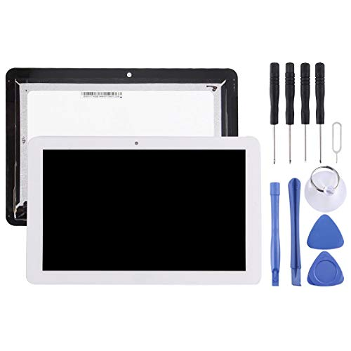 ZHANGJIALI Cell Phones Replacement Parts Replacement LCD Screen and Digitizer Full Assembly for Acer Iconia Tab 10 A3-A20 / 101-1696-04 V1 (White) (Color : White)